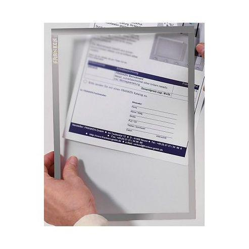 Franken Document Holder A4 Magnetic Grey Pack 5