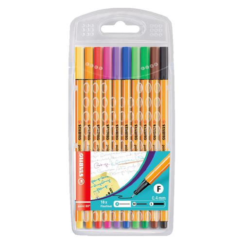Stabilo Point 88  Finepen 10 Assorted colours