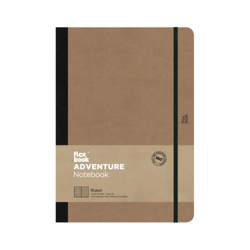 Flexbook Adventure 17x24cm Ruled/Dated Camel Pk3