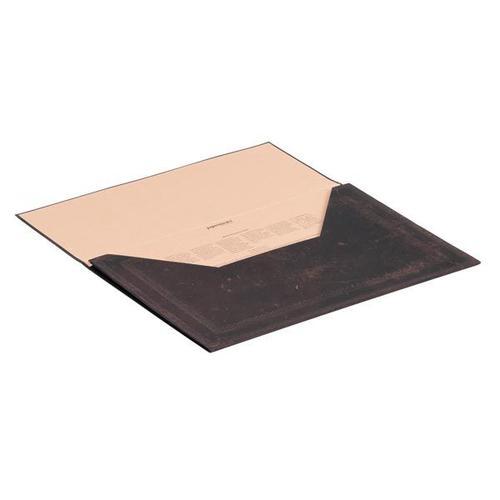 Black Moroccan Bold F/Cap Doc Folder
