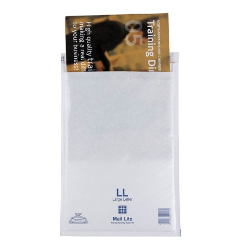 Mail Lite White Bubble Bag 230x330mm (Internal Size) Peel & Seal LL 35050 [Box 50]