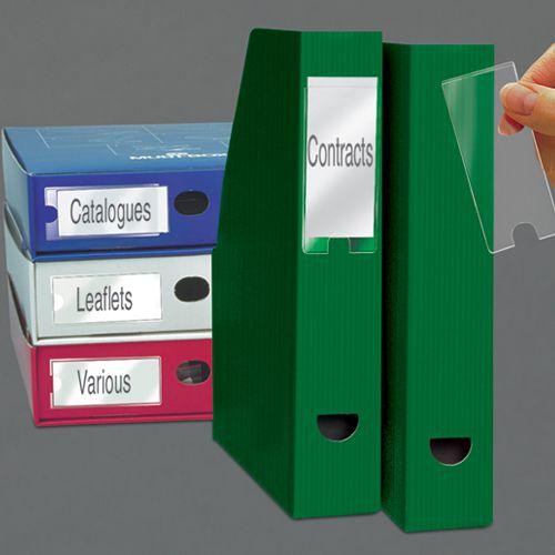 Value 3L Self Adhesive Label Holders 25x75mm 10310 (PK12)