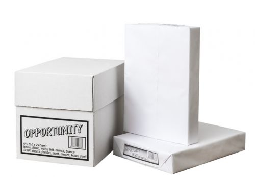 Opportunity Copier Paper White A4 210x297mm Packed 5 x 500