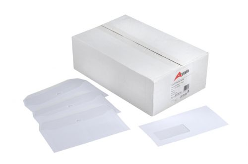Autofil Envelope White Wove 90gm C5+ 162x240mm Gummed Flapped Window 72Up 15Lhs Boxed 500