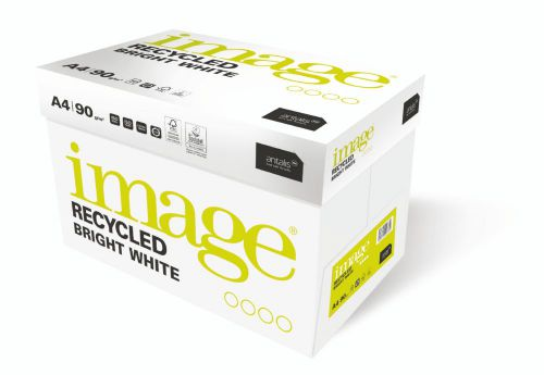 Image Recycled 100% Recycled A4 210x297 mm 100Gm2 Bright White Pack of 500 59855