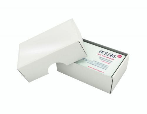White Board Business Card Box Small 0713 97 X 62 X  36MM 500MU Pack 300