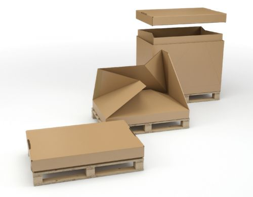 1/1 Full Euro Pallet Box Integral Heat Treated Pal let 1170 X 770 X 660MM