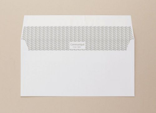 Communique Wallet Envelope Superseal DL 110x220mm 100Gm2 White Pack of 500 01045 FSC4