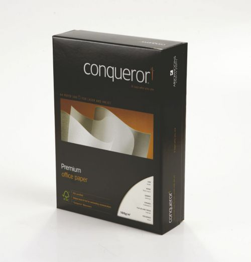 Conqueror Paper Oyster Laid Watermarked A4 100gsm (500) 25596