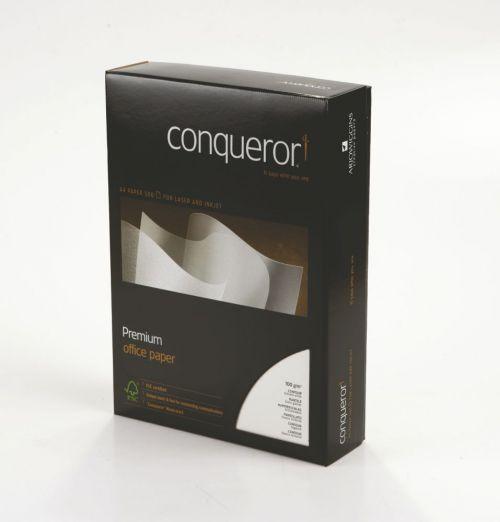 Conqueror Paper Mixed Sources Texture Contour Brilliant White FSC4 A4 100Gm2 Watermarked Pack 500