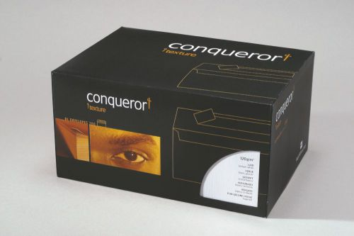 Conqueror Laid DL Wallet Envelope 110x220mm Brilliant White (Pack of 500) CDE1006BW