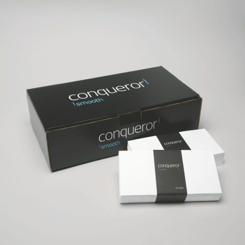 Conqueror Laid DL Wallet Envelope 110x220mm Bright White (Pack of 500) CXN1625DW