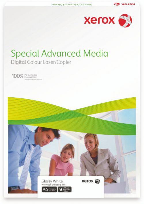Xerox Premium Never Tear Gloss White Self Adh Film  A4 210X297mm Pack 50 007R92031