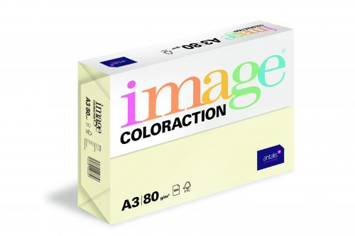 Coloraction Tinted Paper Pale Ivory (Atoll) FSC4 A3 297X420mm 80Gm2 Pack 500