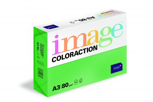 Coloraction Tinted Paper Deep Green (Dublin) FSC4 A3 297X420mm 80Gm2 Pack 500