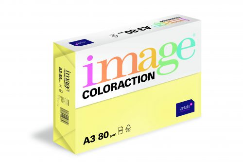 Image Coloraction Florida FSC Mix Credit A3 297x420 mm 80Gm2 Lemon Yellow Pack of 500
