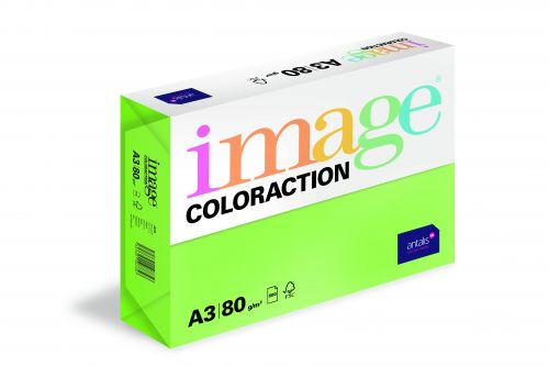Coloraction Tinted Paper Deep Green (Java) FSC4 A3 297X420mm 80Gm2 Pack 500