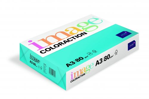 Coloraction Tinted Paper Deep Turquoise (Lisbon) FSC4 A3 297X420mm 80Gm2 Pack 500
