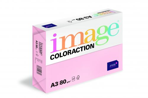 Coloraction Tinted Paper Pale Pink (Tropic) FSC4 A3 297X420mm 80Gm2 Pack 500