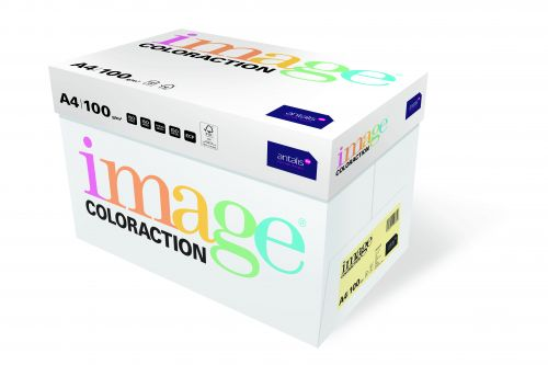 Image Coloraction Desert FSC Mix Credit A4 210x297 mm 100Gm2 Pale Yellow Pack of 500