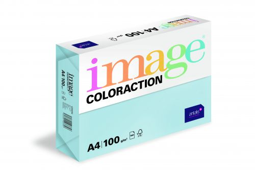 Image Coloraction Tinted Paper A4 100gsm Pale Icy Blue Iceberg (500) 89655