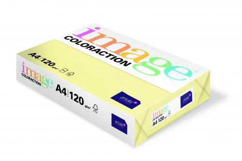 Coloraction Tinted Paper Pale Yellow (Desert) FSC4 A4 210X297mm 120Gm2 Pack 250