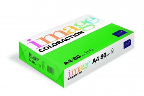 Image Coloraction Tinted Paper A4 80gsm Deep Green Dublin (500) 89617