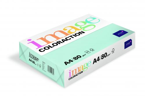 Coloraction Tinted Paper Pale Blue (Lagoon) FSC4 A4 210X297mm 80Gm2 Pack 500