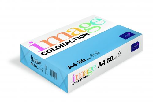 Image Coloraction Malta FSC Mix Credit A4 210x297 mm 80Gm2 Mid Blue Pack of 500