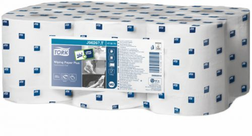 Tecman Blue Embossed Centrefeed 2Ply 178mm 60mm Core 400 Sheets Case 6