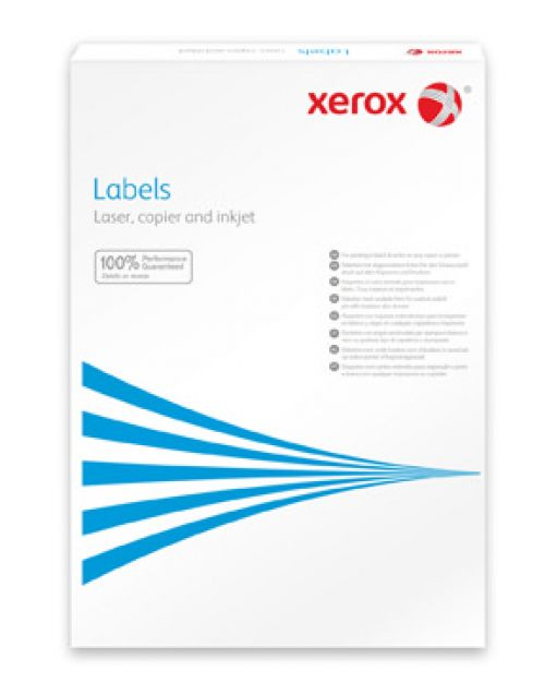 Xerox MonoLaser Labels Rounded Corners 8Up A4 99x67mm White Permanent Packed 100 003R91224