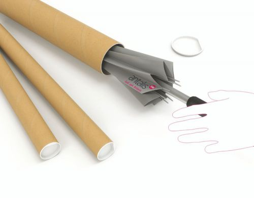 Postal Tube 450x76mm Brown Kraft (Pack of 12) PT-076-15-0450