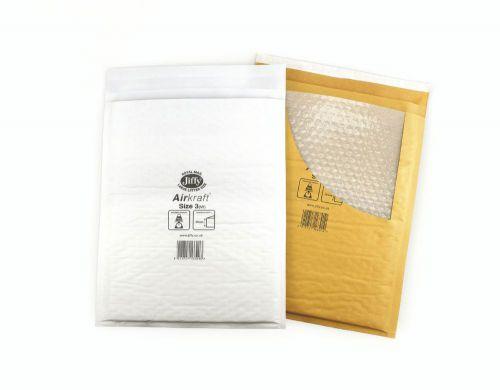 Jiffy Airkraft Bubble Lined Bag Size 00 115x195mm White (100) JL-00