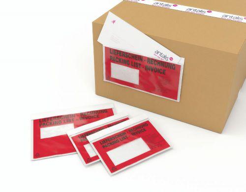 Masterline Self Adhesive Document Enclosed Printed Envelope A7/C7 113x100mm Pack 1000 Packing List Envelopes EN9731