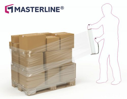 Master IN Blown Hand Stretch Film Blue 400mm x 300 m x 17mu Extended Core Box 6