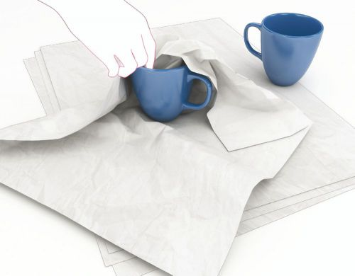 Tissue Paper 100 percent Recycled Sheet 500x750mm White [Pack 480]