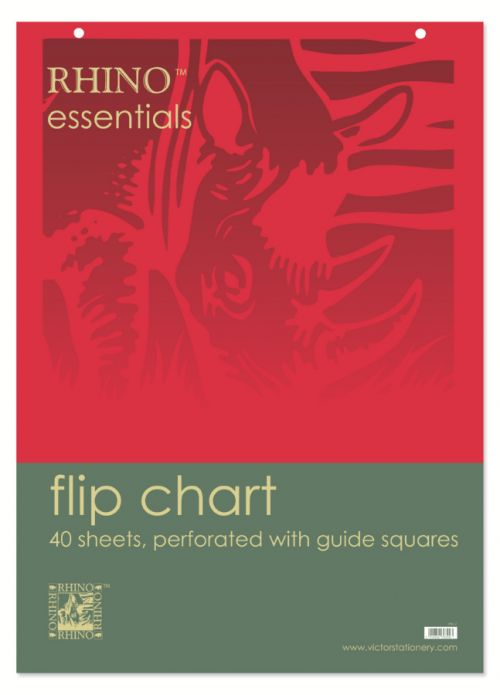 Rhino Flip Chart Blank A1 40 Leaves Pack of 5 FC1TMP 3P