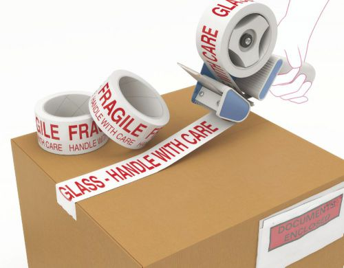 ValueX Fragile Printed Tape 48mmx66m Red/White (Pack 6)