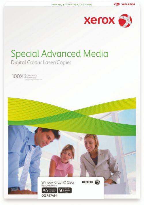 Xerox Premium Never Tear Matt Clear Self Adh Film A3 297X420mm 50SH Pack 5 007R92048