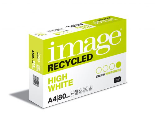 Image Recycled 100% Recycled A4 210x297mm 80Gm2 High White Pack of 500