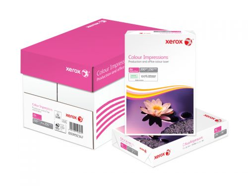 Xerox Colour Impressions Paper A4 210x297mm PEFC 200g Long Grain FSC Pack 250 Plain Paper PC2372