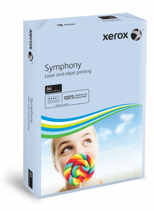 Xerox Symphony A4 Pastel Blue 160gsm Card (Pack of 250) XX93222
