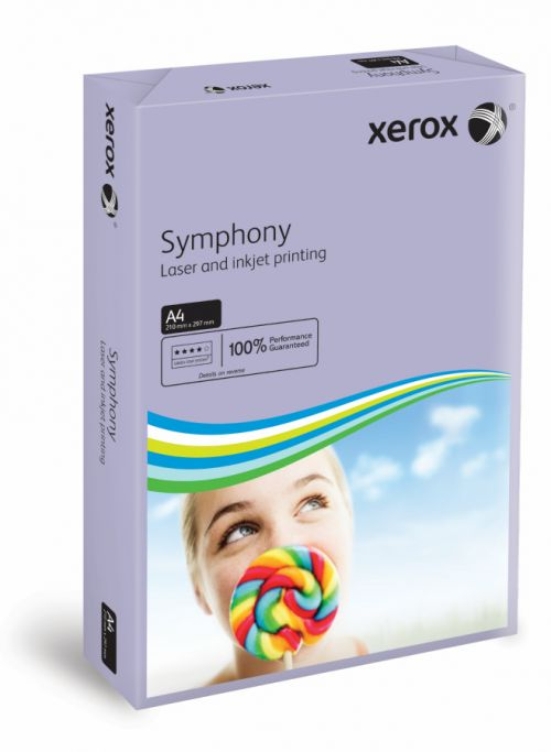 Xerox Symphony Medium Tints Lilac Ream A4 Paper 80gsm 003R93969 (Pack of 500) 003R93969