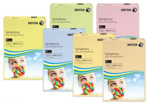 Xerox Symphony Pastel Tints Yellow Ream A4 Paper 80gsm 003R93975 (Pack of 500) 003R93975