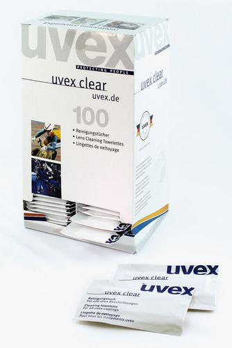 Uvex Range Cleaning Towelettes 100/Box  9963-000