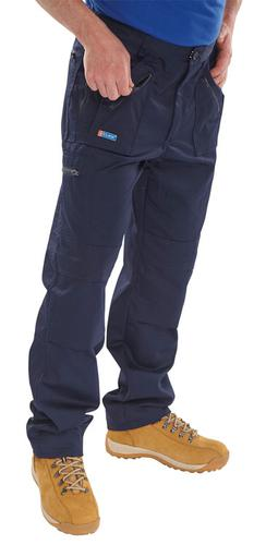 Poly-Cotton Workwear Action Work Trousers Navy 42  Awtn42