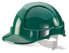 Green Plastic Harness Economy Vented S/Helmet Bbev shg