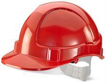Red Plastic Harness Economy Vented S/Helmet Bbevsh re