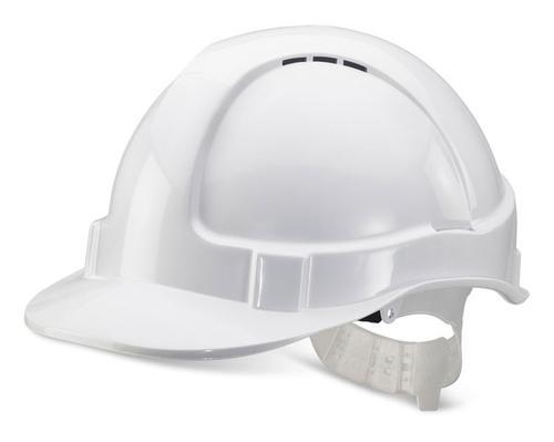 White Plastic Harness Economy Vented S/Helmet Bbev shw