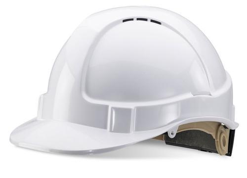 White Wheel Ratchet Headgear B-Brand Safety Helmet  Bbvshrhw